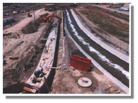 The 10 ft X 12 ft box culvert is 400 ft long